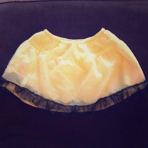 Gymboree yellow tutu skirt with black trim
